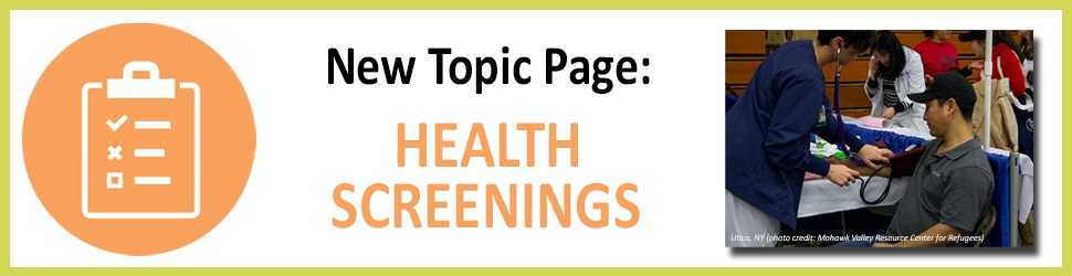 Health Screenings Topic Page